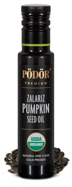Organic pumpkin seed oil, zalariz, cold-pressed_1